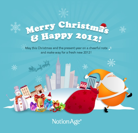 Happy Holidays - New Year 2012