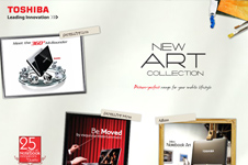 Toshiba – New Art Collection Microsite
