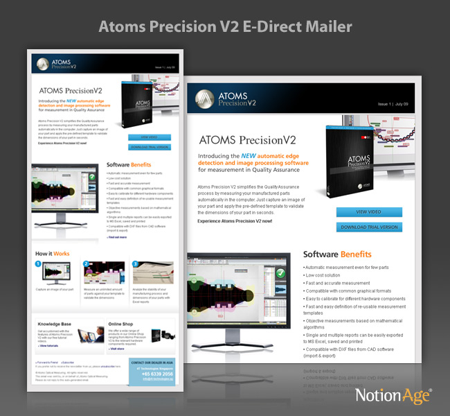 Atoms Precision V  Email Marketing  Notion Age
