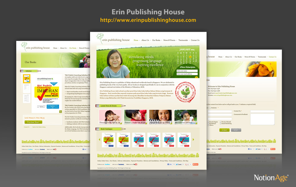 Publishing house website template xls