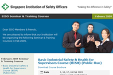 Singapore Institution of Safety Officers – E-Direct Mailer