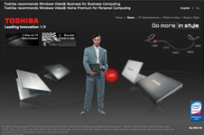 Toshiba – Do More In Style Microsite 2008